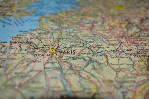 Map of Paris.